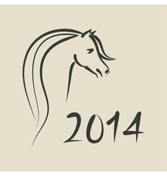 year horse 2014 background vector image