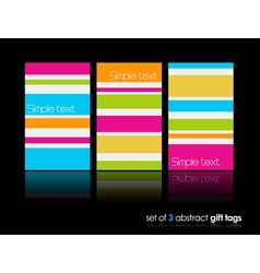 3 separate gift cards with lines vector image vector image