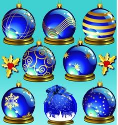 blue ornaments vector image