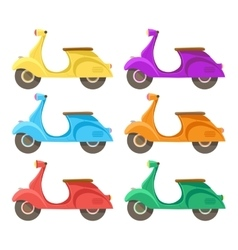 Creative flat design scooter icon vector