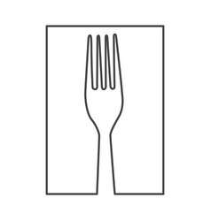 figure fork cutlery icon vector image vector image