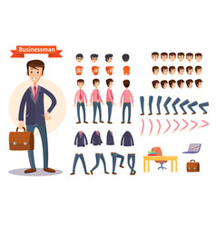 set of cartoon for creating a vector image vector image
