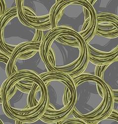 Circle hand drawing seamless pattern Retro fabric vector image