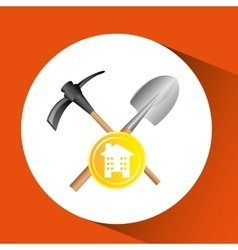 construction remodel tool shovel icon graphic vector image