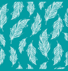 seamless ethnic pattern of beautiful feathers vector image