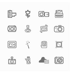 camera icon photo vector image vector image
