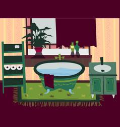 cartoon flat bathroom interior vector image