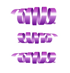 Festive lilac streamers vector image