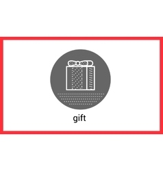 Gift box contour outline vector image