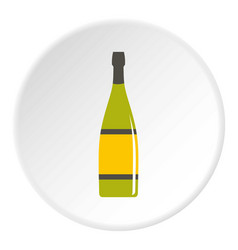 glass bottle icon circle vector image