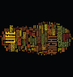 The long way text background word cloud concept vector