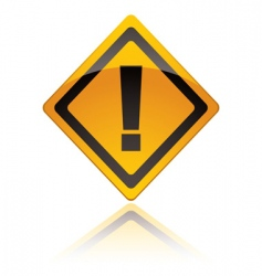 warning sign icons exclamation vector image