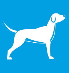 dog icon white vector image vector image