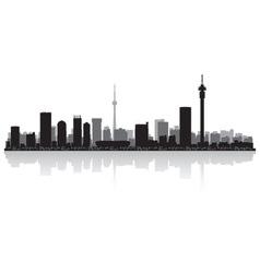 Johannesburg city skyline silhouette vector image vector image