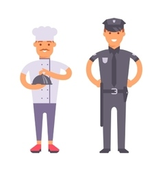 People professions set vector image