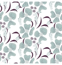 Romantic flower seamless pattern vector image