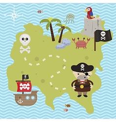 Treasure map theme vector