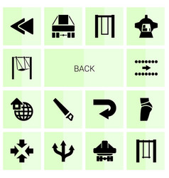 14 back icons vector