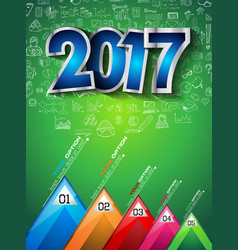 2017 new year infographic and business plan vector image