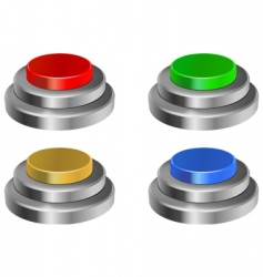 3d glossy buttons vector image