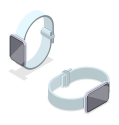 3d isometric flat concept smartwatch vector image