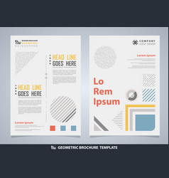 abstract colorful geometric brochure with text vector image