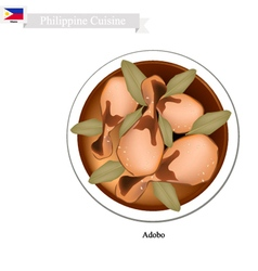 Adobo or Philippines Meat Stir with Vinegar vector image