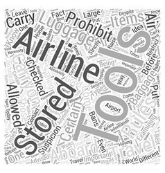 Air Travel Rules Traveling With Tools Word Cloud vector