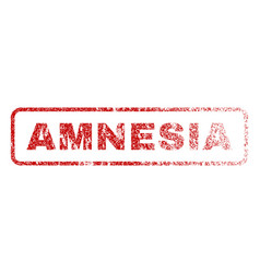 Amnesia rubber stamp vector