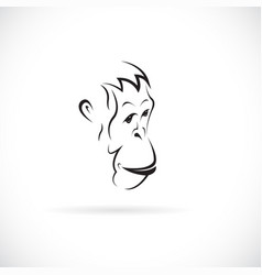 an orangutan face design on white background wild vector image