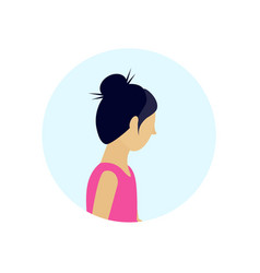 asian woman profile avatar isolated female cartoon vector image