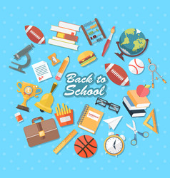 Back to school flat vector