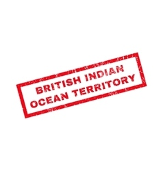 British Indian Ocean Territory Rubber Stamp vector image