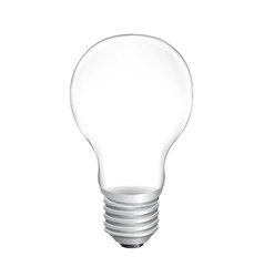 bulb with white background vector image
