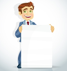 businessman poster for presentation vector image