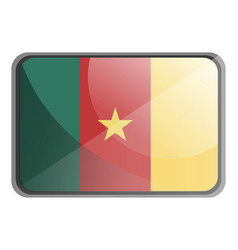 cameroon flag on white background vector image