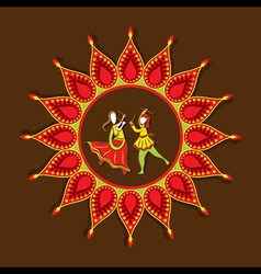 celebrate navratri festival with dancing garba vector image