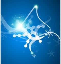 Christmas lightning abstraction snowflakes waves vector image