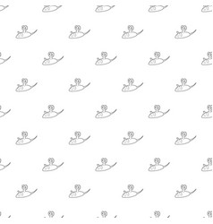 clockwork mouse icon outline style vector image
