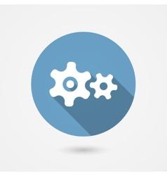 Cog gear icon vector