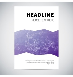 Cover design with abstract purple geometry on vector
