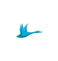 creative blue swan logo vector image