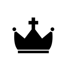 Crown with cross icon black vector