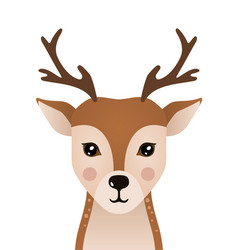 cute deer woodland forest animal vector image
