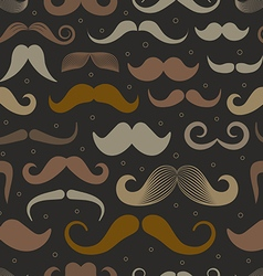 Different retro style moustache seamless patt vector image vector image