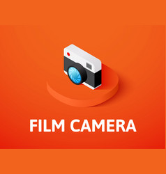 film camera isometric icon isolated on color vector image