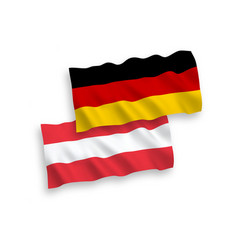 Flags austria and germany on a white background vector