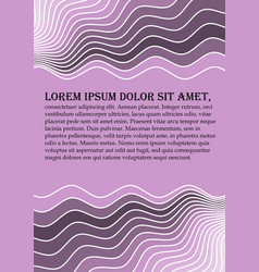 Flyer background abstract in light purple color vector