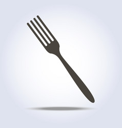 fork sign simple icon in gray colors vector image