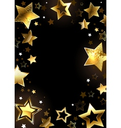 Frame with gold stars vector